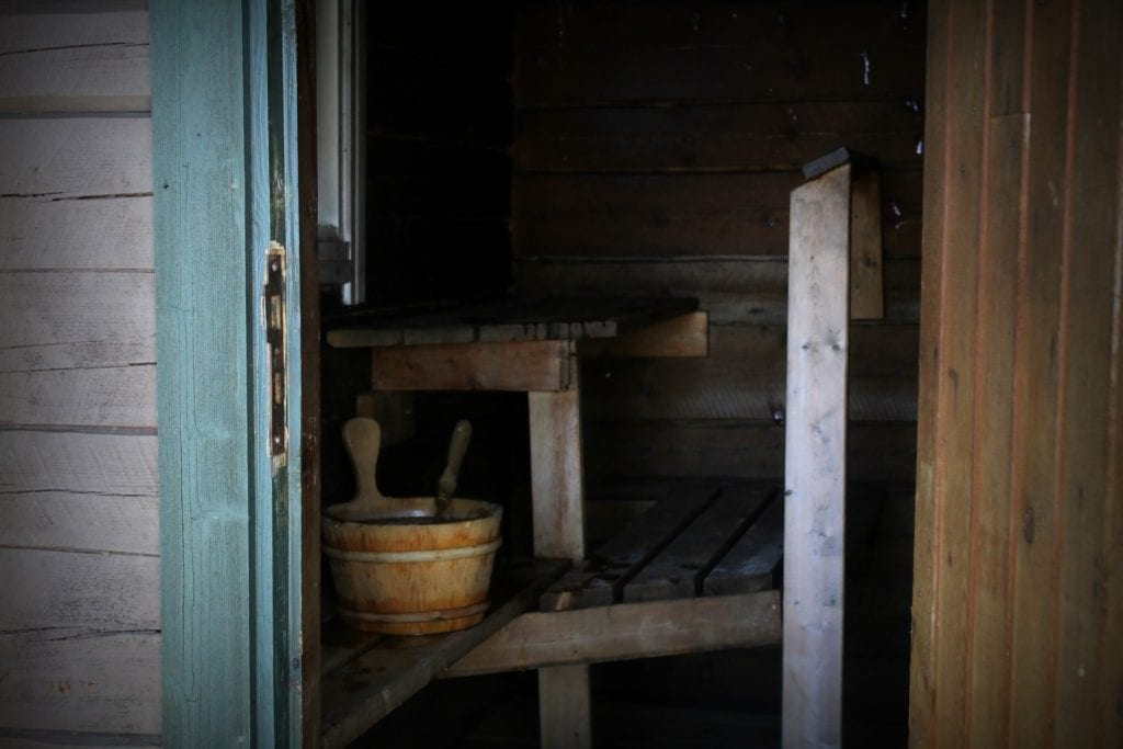 Blick in Sauna